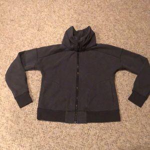 Lululemon grey logo Scuba sweatshirt size 8